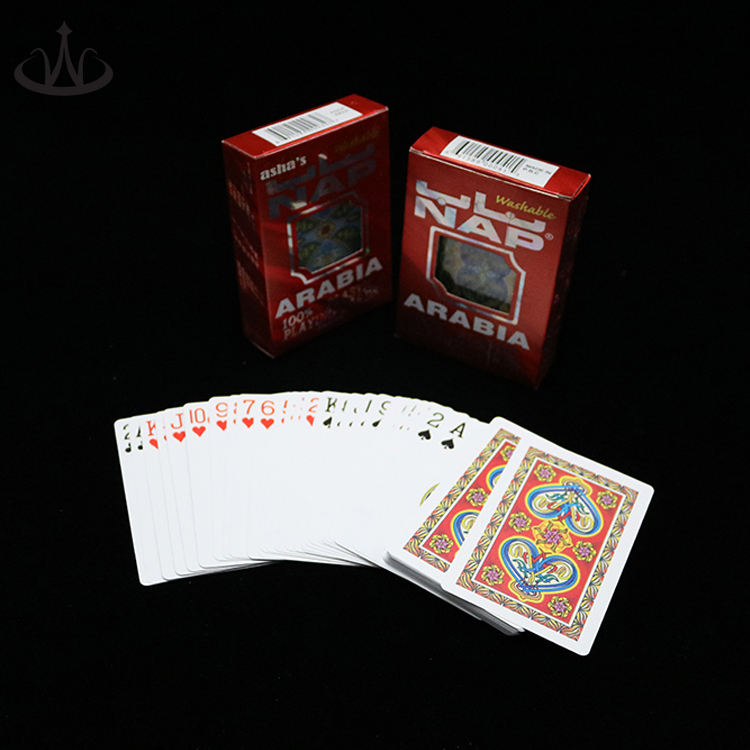 Custom printing high quality plastic nap playing cards pvc poker size