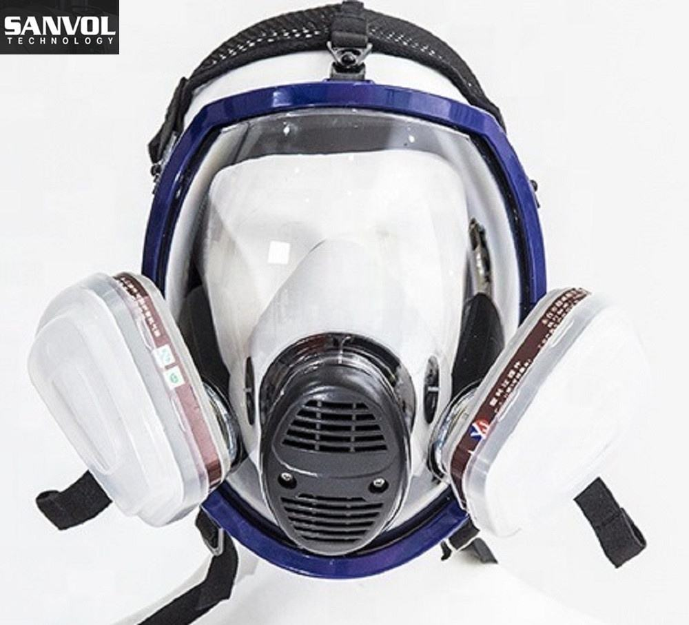 Full Face Protective Gas Mask Black Chemical Face Mask