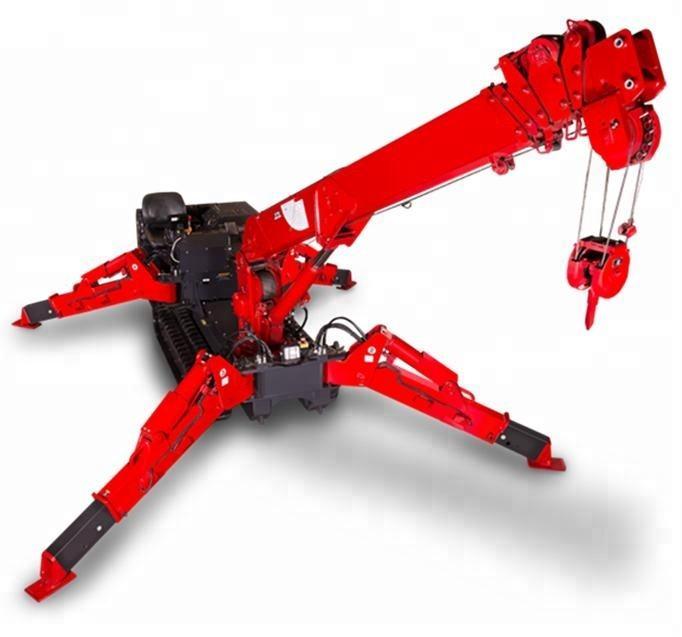 New design workshop 5ton mini Crawler crane / spider crane