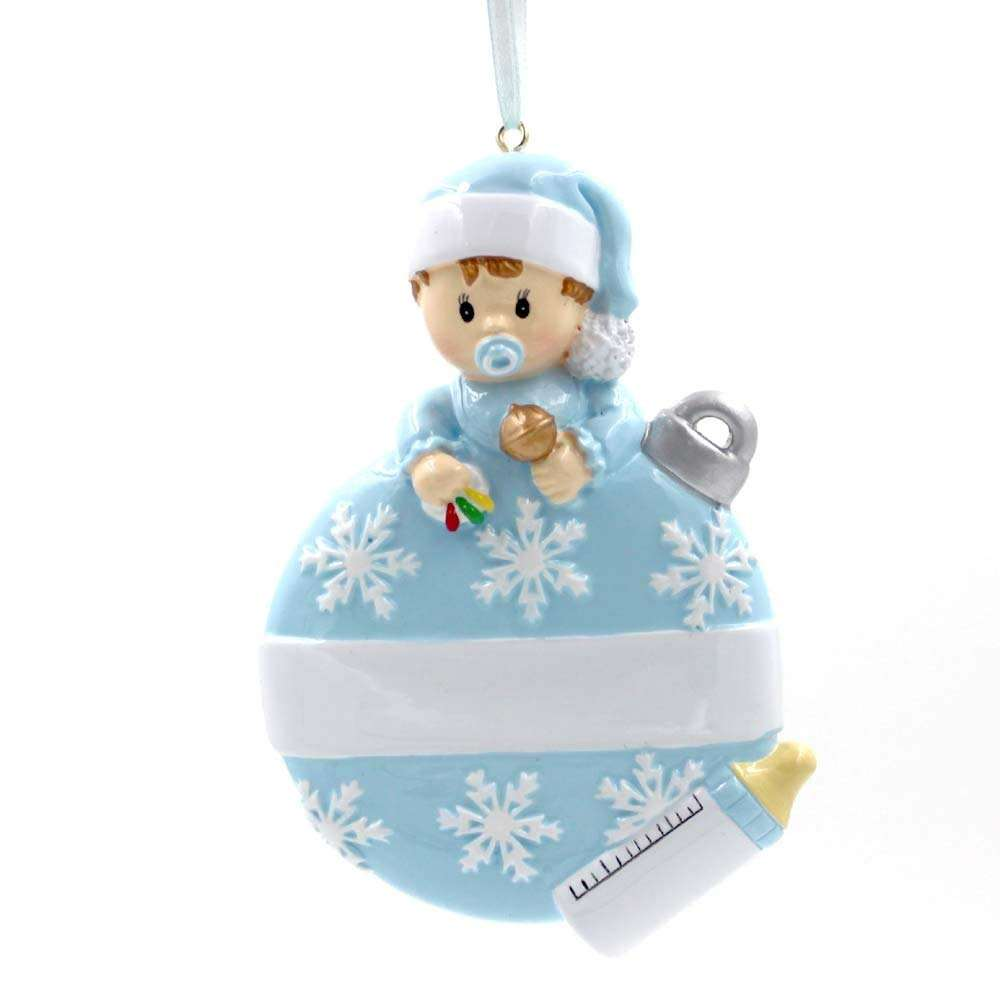 Baby's First Christmas Ornament Resin Personalized Baby Ornament