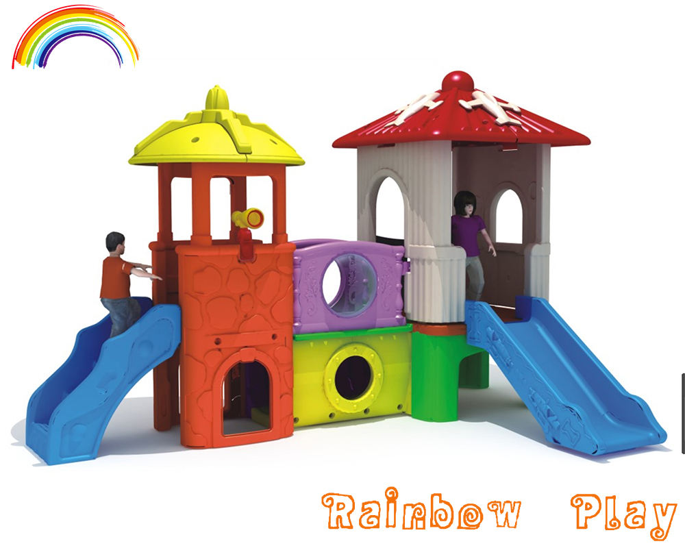 colourful kindergarten big plastic playground slide for fun