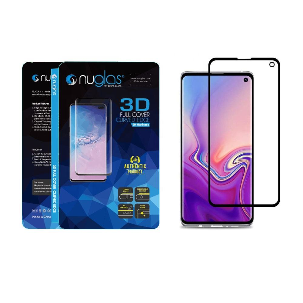Nuglas Anti Shock Screen Protector untuk Samsung Galaxy S10e 3D Melengkung Tempered Glass
