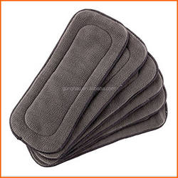 5 Layers Bamboo Charcoal Insert Bamboo Carbon Liners For Baby Pocket Diapers