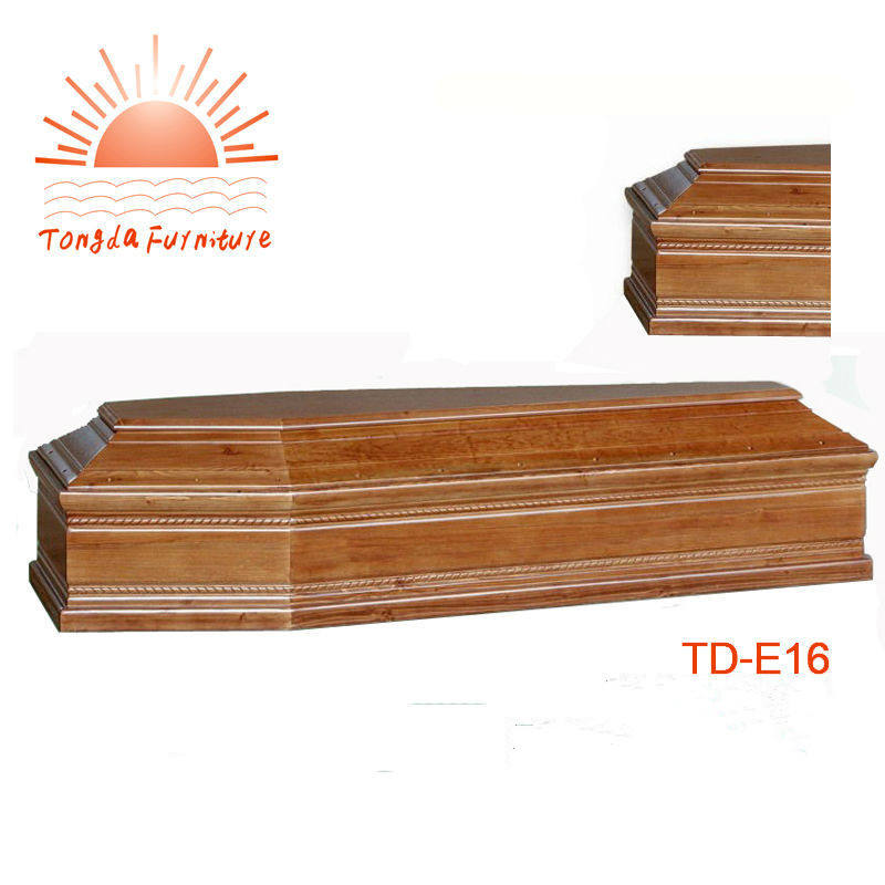 TD--E16 China manufacturer wooden coffin for funeral use