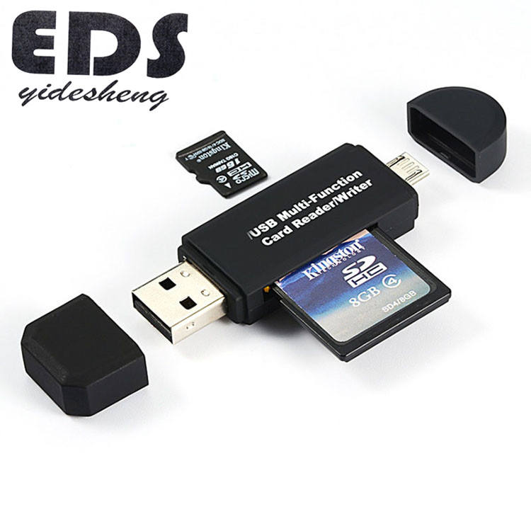 USB 2.0 USB M icro USB Combo to 2 Slot TF SD Type C Card Reader Universal 3 in1 OTG Type - C Card Reader สำหรับสมาร์ทโฟน PC