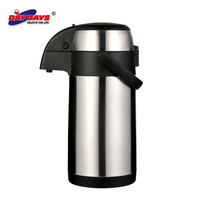 Termos Botol Air Stainless Steel 3000Ml, Pompa Udara Dinding Ganda, Pot Termos Vakum, Cangkir Pendingin, Dispenser Botol Air