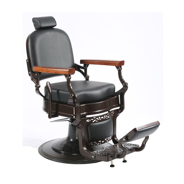 Hot sale wholesale high quality heavy duty classical and old style wood armrest barber chair for hair chair salon barber shop