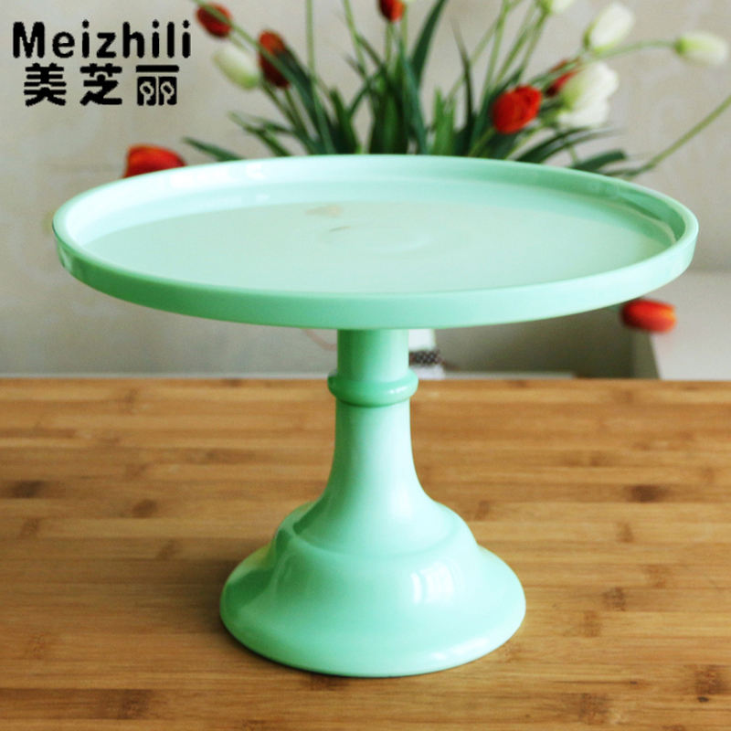 HOT SALE Custom Green Glassware Manufacturer cake stand glass cup votive candle holder