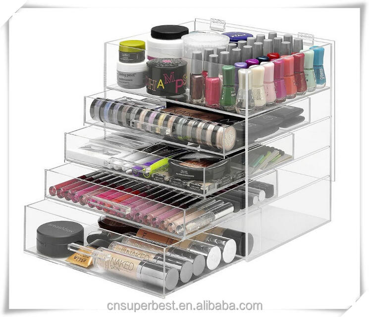 5 lagen acryl cosmetische make up organisatoren