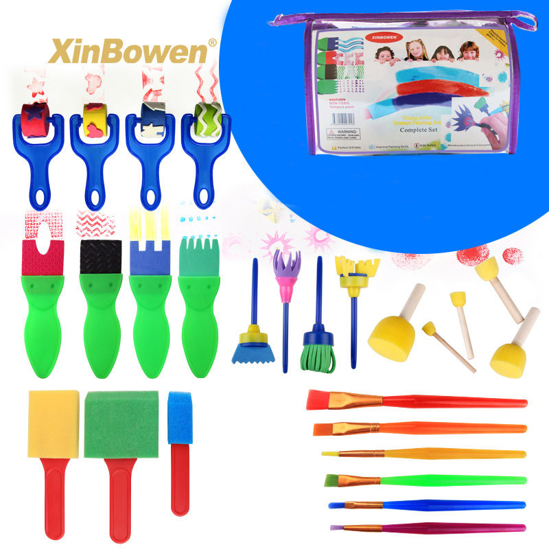 Art Supplies 26 PCS/Set Children Sponge Painting Brush Stamp Kids DIY Graffiti Drawing Set