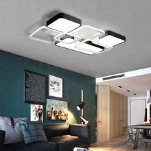 Flush Surface Mount Fixture 41w 52w 114w 137w Bedroom Ceiling Lamp Hot Sale Modern Living Room Rectangular Led Ceiling Light