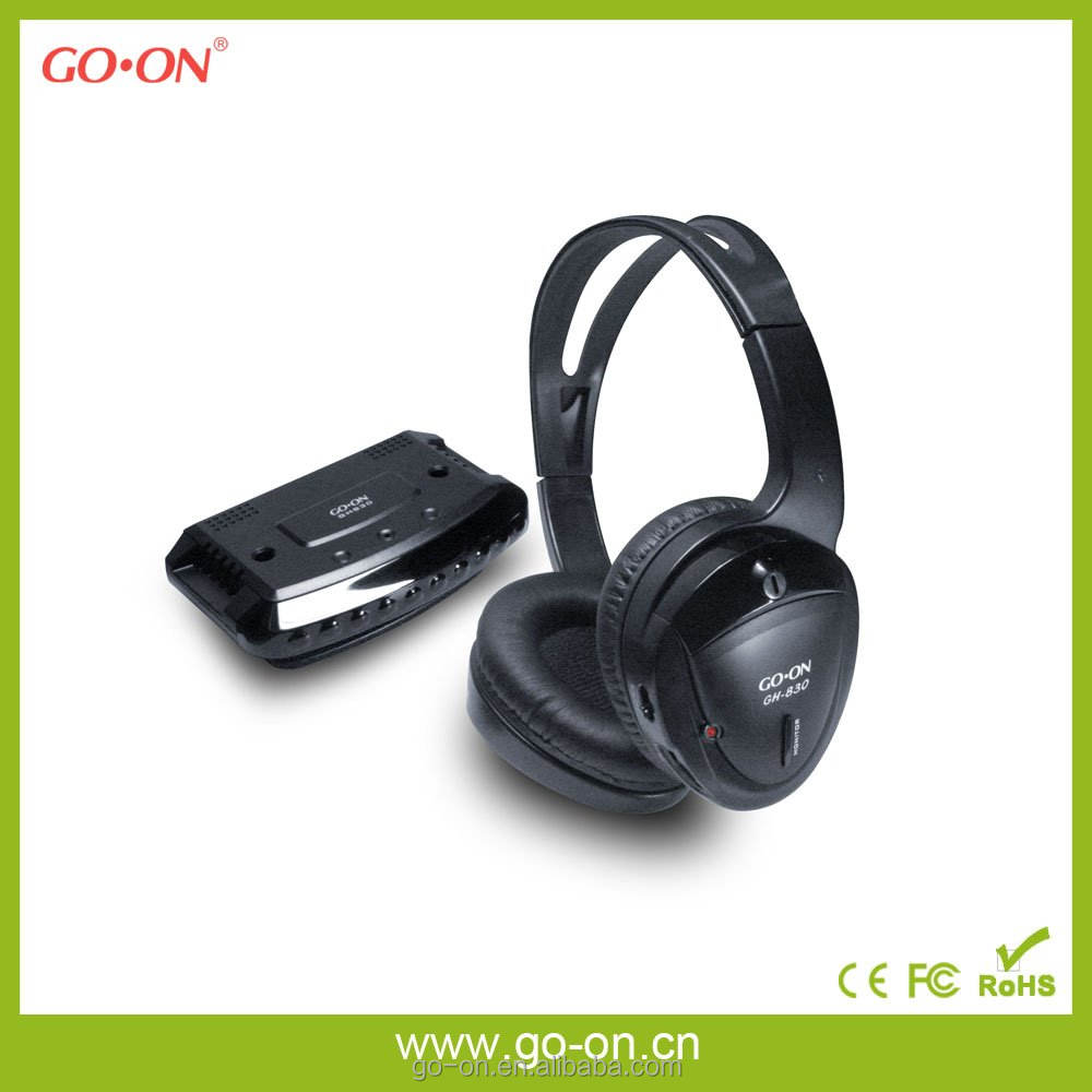 GH-830 RF/UHF Stereo headsets double PLL system for stable frequency