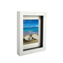 Wholesale Wood picture frame 3d wall hanging White shadow box frame