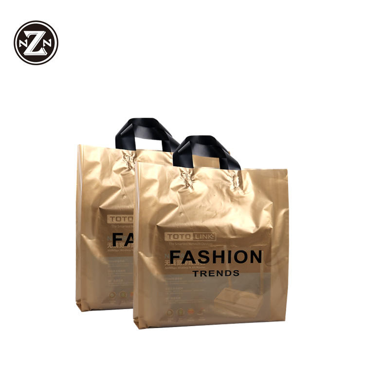 custom print own logo pe po plastic bag shopping carry bag with handle