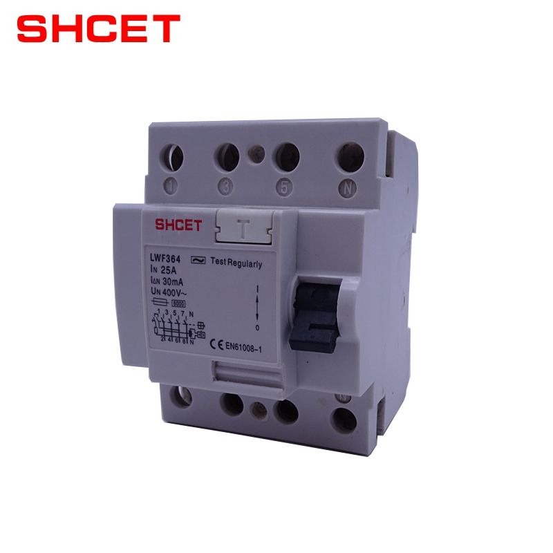 ผู้ผลิตจีน 4 Pole ELCB RCCB Current Ratings Earth Leakage Circuit Breaker