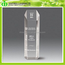 DDL-H033 ISO9001 Chinese Factory Sells SGS Test Fashionable Clear Acrylic Glass Cylinder for Million Dollar Producer