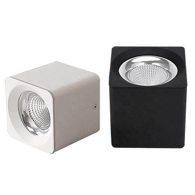 2019 modern design adjustable square surface mounted 10w cob led downlight