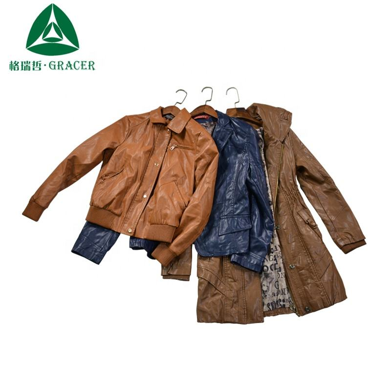 Sorted Bundle Leather Jacket Wholesale Used Clothing from USA