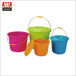 wholesale cheap backet/ eco-friendly stocked OEM plastic water buckets with lid plastic factory
