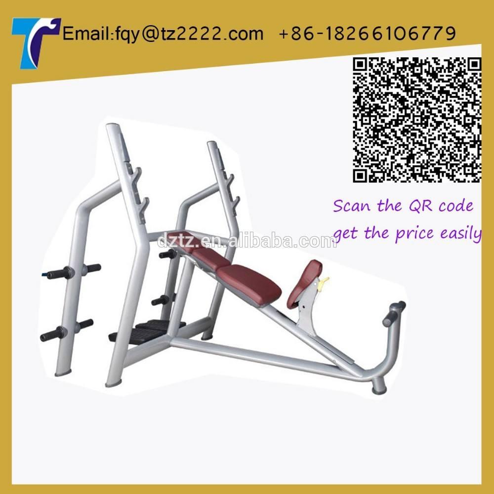 Heavey deber de inclinación olímpicos banco/de prensa- la máquina de fitness/equipo de gimnasio comercial tz-6030