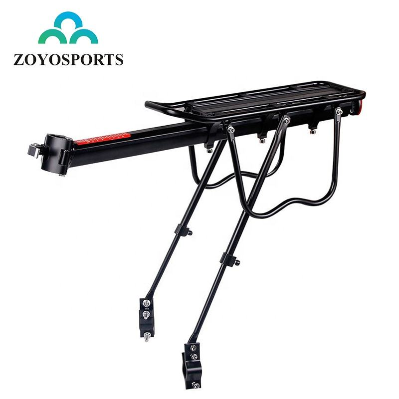 ZOYOSPORTS Quick Release Bicycle Rear Luggage Cargo Carrier With Reflector Adjustable Aluminum Bike Rear Seat Rack