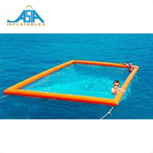 Dwf Material Inflatable Sea Float Pool For Yacht Play / Jelly Fish Protection Boom Swim Resort Pool Float For Promotion