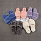 Wholesale custom winter warm sheepskin slippers Cotton indoor home wool slippers for women&girls