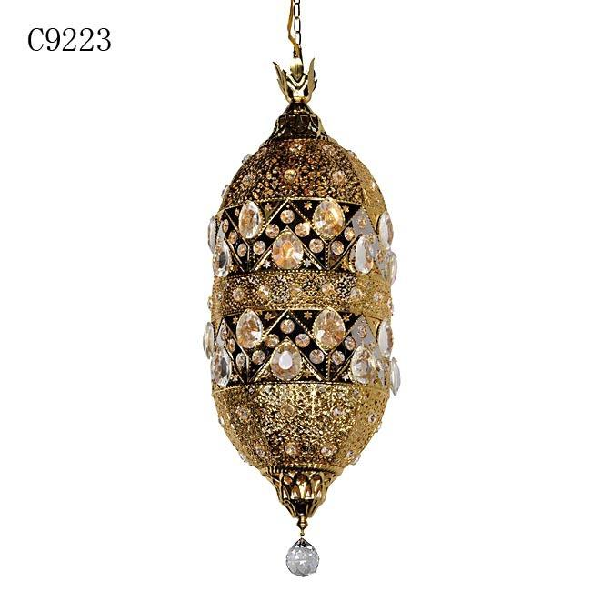 wrought iron hanging lamps, modern decor crystal moroccan lantern