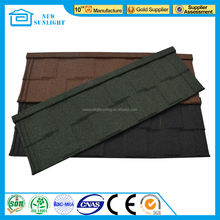 stone coated roofing tile/ copper colored metal roof cottage with poland