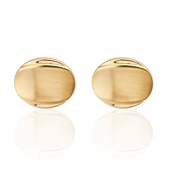 Fashion mens shirt cuff gold Cufflinks round smooth buttons Cufflinks wholesale price