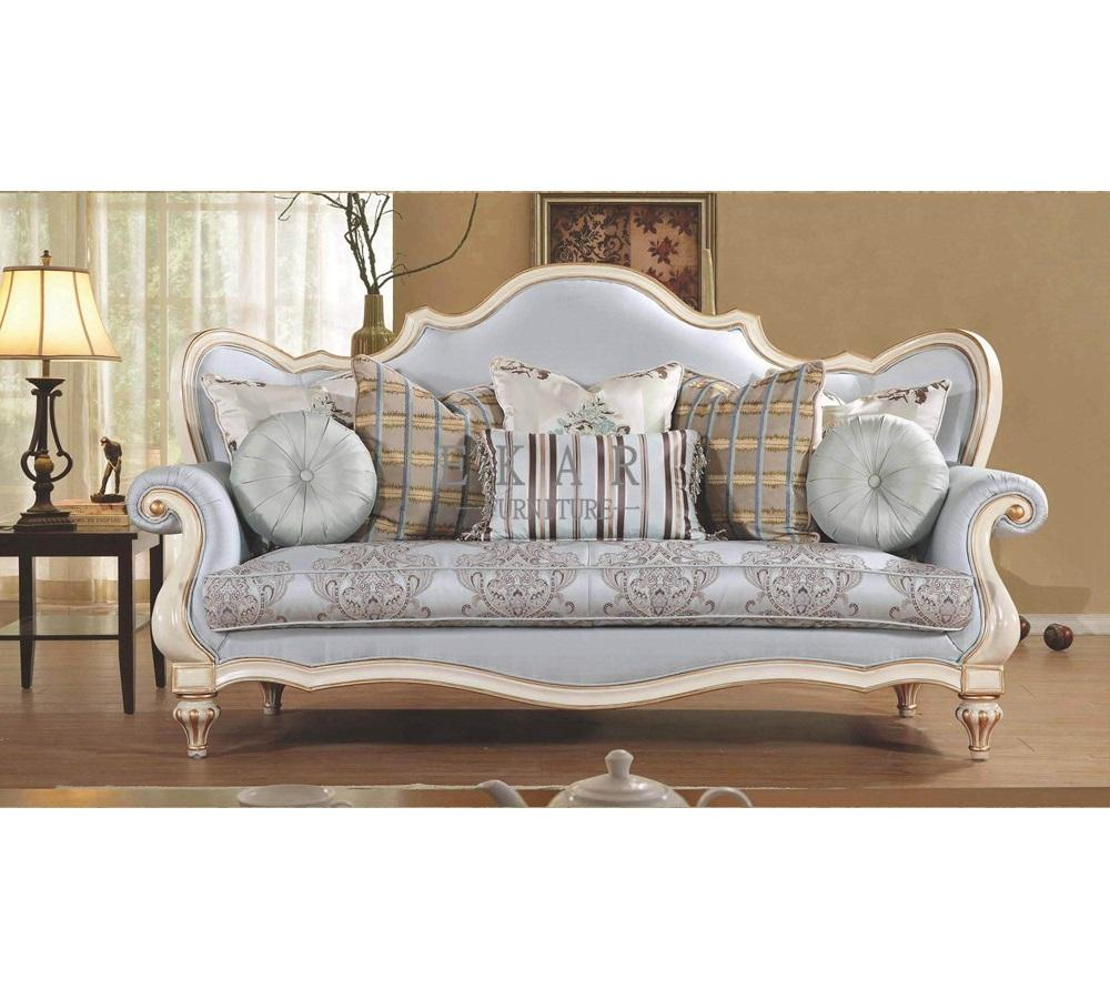 European Classical French Carved 3 Seater Antique Sofa Set Design