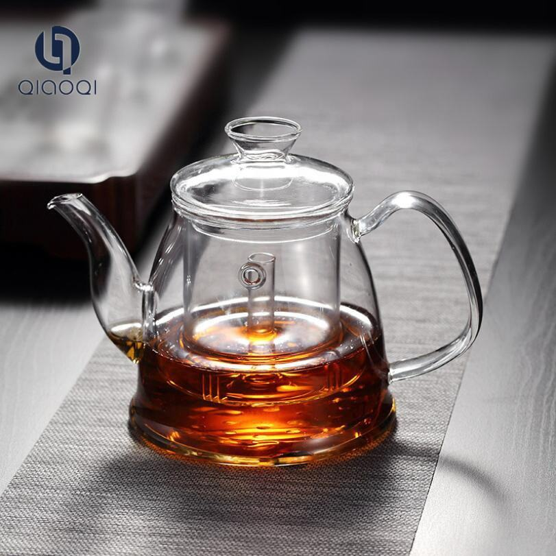 QIAOQI 1200ml Glass Electric Porcelain Kettle