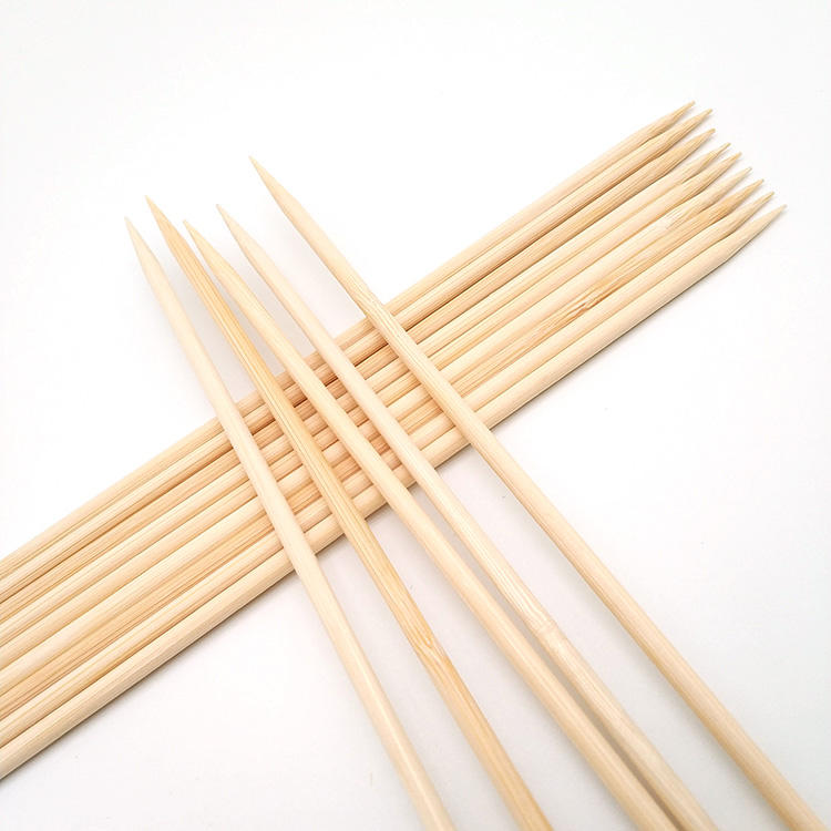 Good quality bamboo round rotating bbq skewer Manufacturer