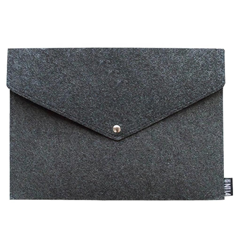 Wool Felt File Holder Paper Pockets A4 Size Document Folder