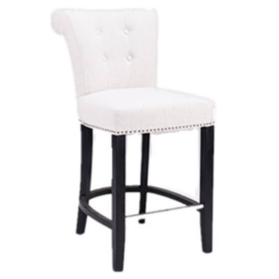 Pudded Modern Bar Chair Tufted Bar Stool Kitchen High Chair With Ring Back