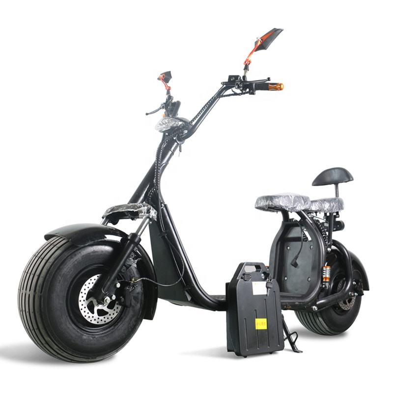 New Style 60 V corrida de moto Big Pneu 1000 w scooter elétrica moped