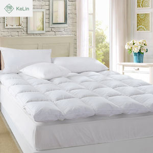 china factory luxury home use duck down duck feather mattress topper mattress pad