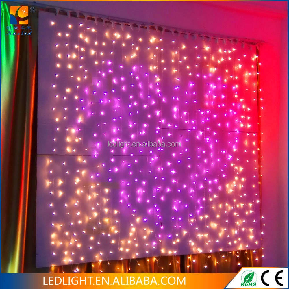 Led Snowfall Curtain Lights /Led Curtain String Light For Wedding Decoration