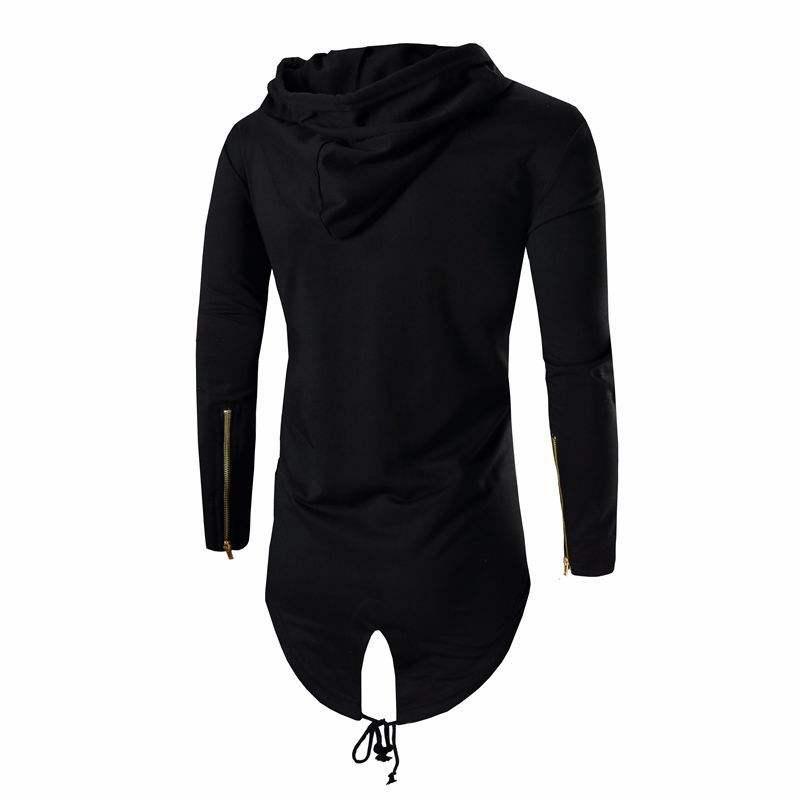 GRMO Women Fashion Long Sleeve Poncho Asymmetrical Hoodies Sweater Shirt
