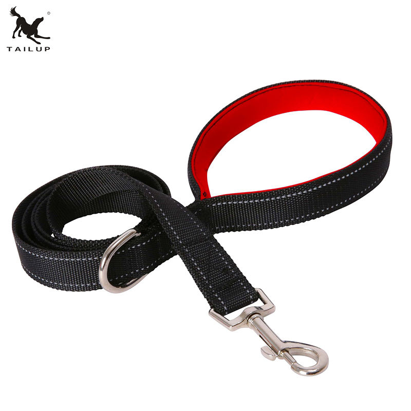 5ft 6ft New Style Reflective Neoprene Padding European Dog Training Leash