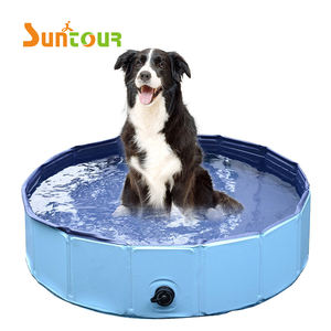 Chengtao PVC Plastic Foldable Pet Dog Bath Pool Collapsible Dog Pet Pool Bathing Tub Kiddie Pool for Dogs Cats and Kids