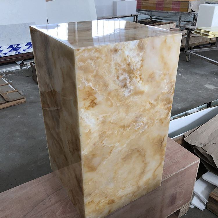 Translucent Alabaster Acrylic Sheet Artificial Stone Real Onyx for Cylinder Light box