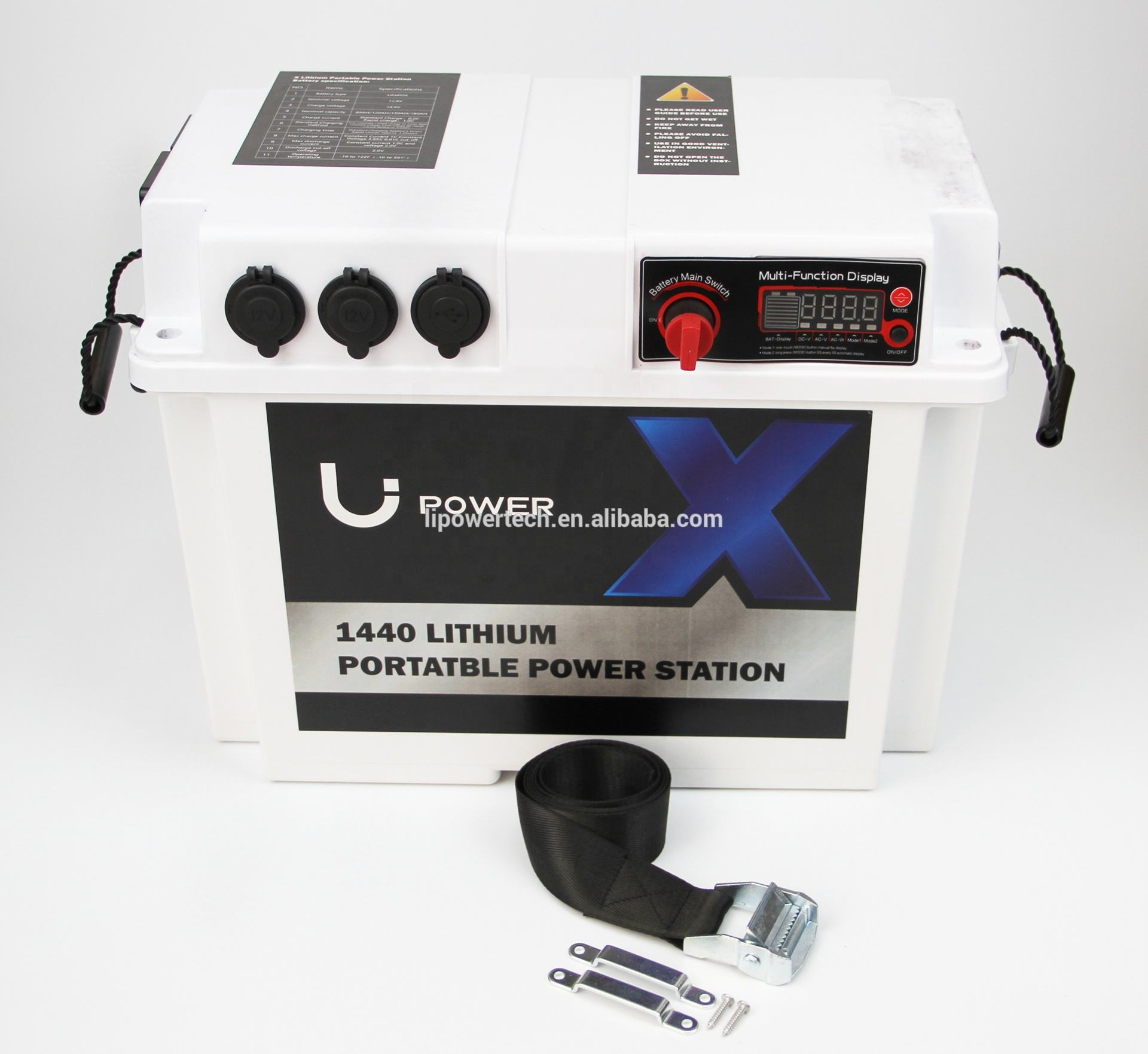 ACDC portable 220v battery power station for home, RV & marine