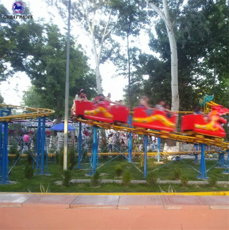 cheap price Outdoor entertainment sliding dragon roller coaster rides electric track dragon train for sale