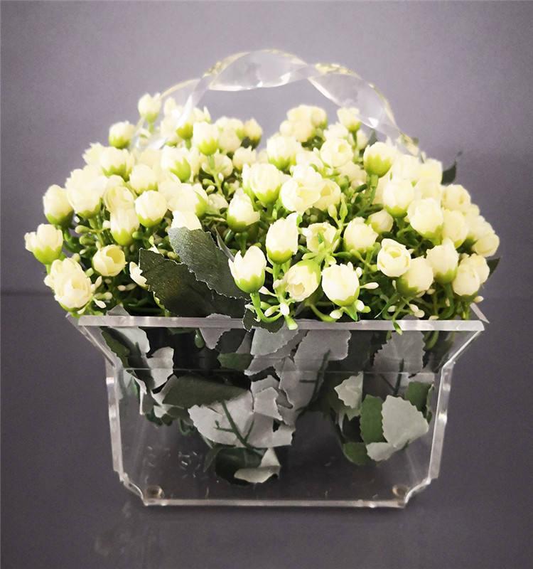 カスタマイズされた花屋の写真スタジオ美しいアクリルの花のボックス装飾