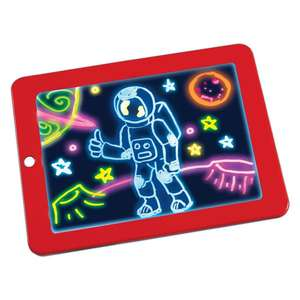 Educatief Speelgoed 3D Magic Drawing Pad Light Up Led Board Deluxe Light Up Led Tekening Tablet Met Extra 'S