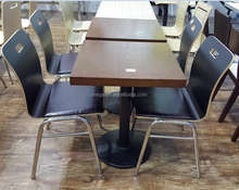 Modern brown coffee shop or bakery dining table furniture FOH-CMY47
