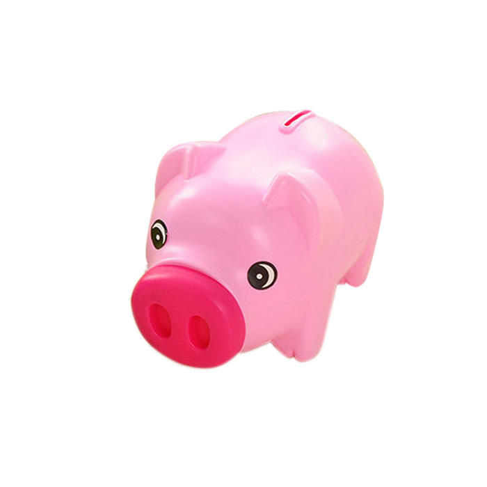 Cute piggy bank for children kids present plastic toy coin box for birthday/Children's Day/Christmas, Custom design available