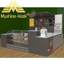 Myshine Customized mall desert showcase bakery kiosk 3d design food kiosk
