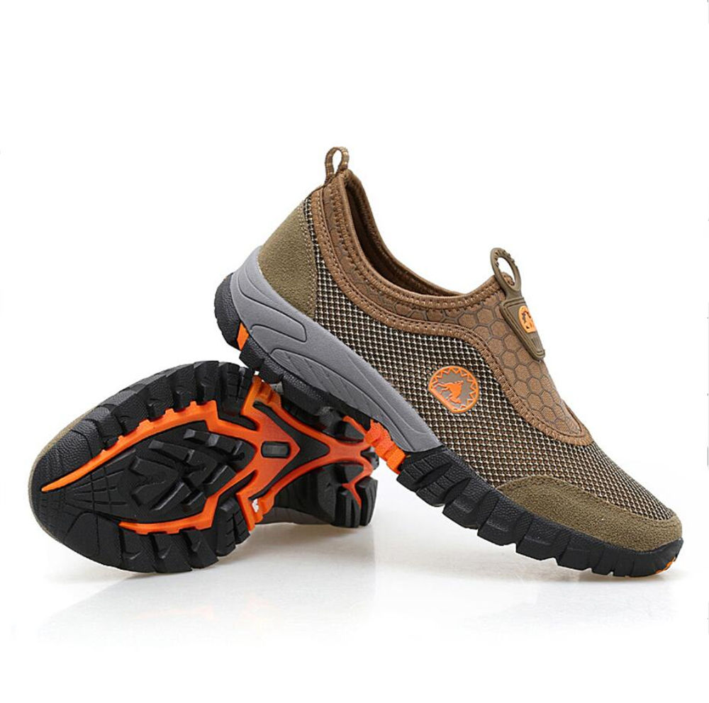 Summer hot sale hiking wading shoes men breathable mesh cloth sport shoes GS-D0005